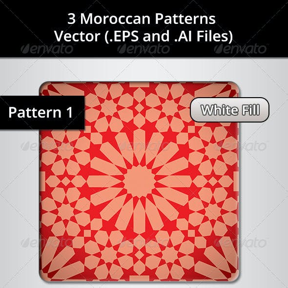 3 Moroccan Patterns Bundle