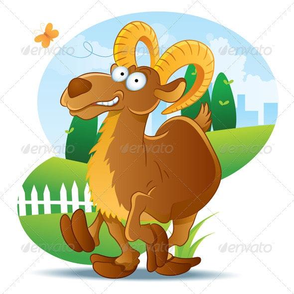 Goat Illustration Cartoon - Animals Characters