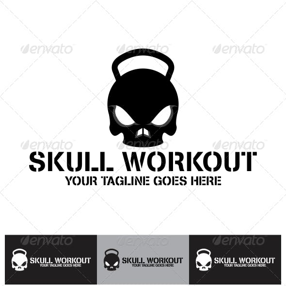 Skull Workout Logo Template