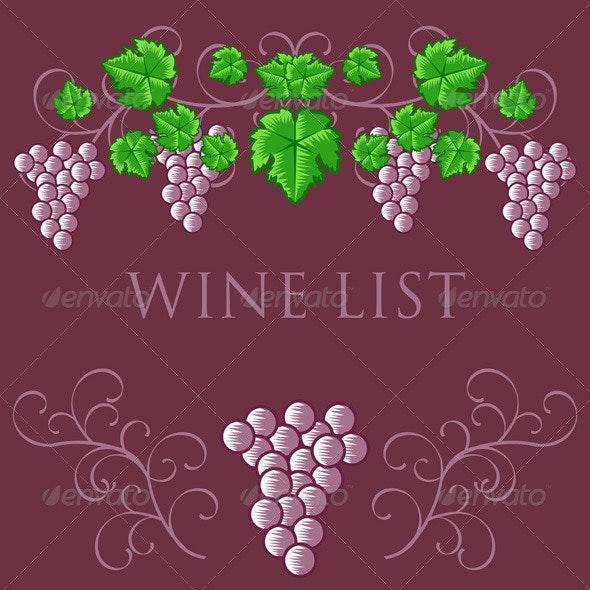 Vintage Wine List Cover Design - Decorative Vectors