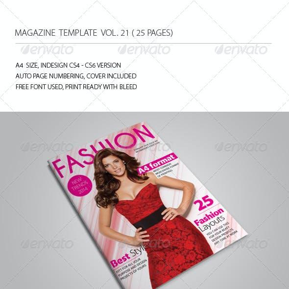25 Pages Fashion Magazine Vol21