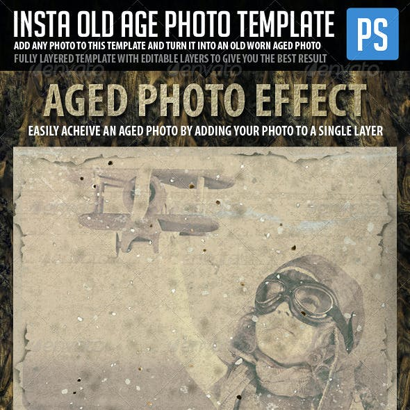Insta Old Age Photo Template (Vintage Photo)