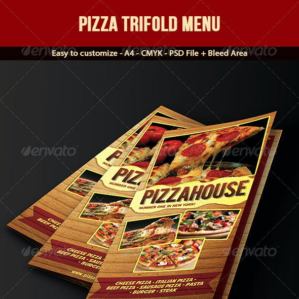 Trifold Pizza Menu