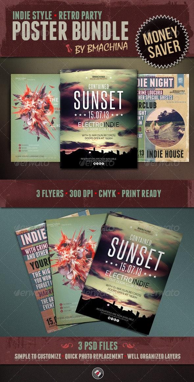 Indie Flyer Bundle - Events Flyers