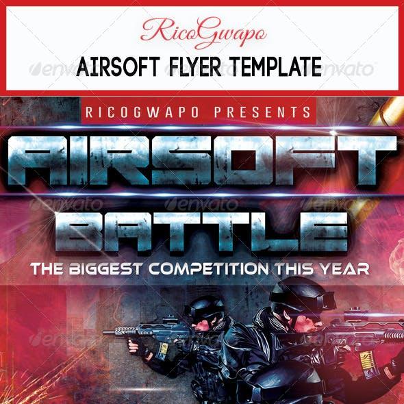 Airsoft Battle Flyer Template