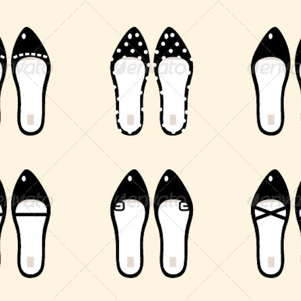 Black Retro Female Shoes Collection