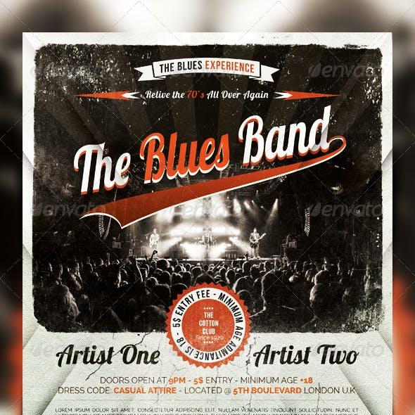 Indie Rock - Blues - Jazz  Vintage Flyer / Poster