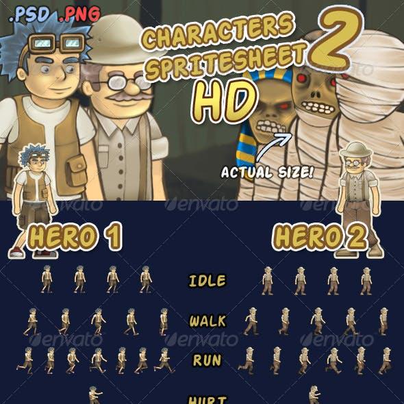 Character Spritesheet 2 HD