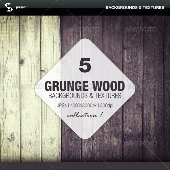 Grunge Wood Backgrounds - Collection 1