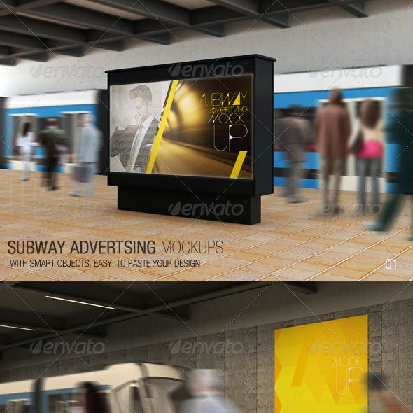 Subway Advertising Mockups