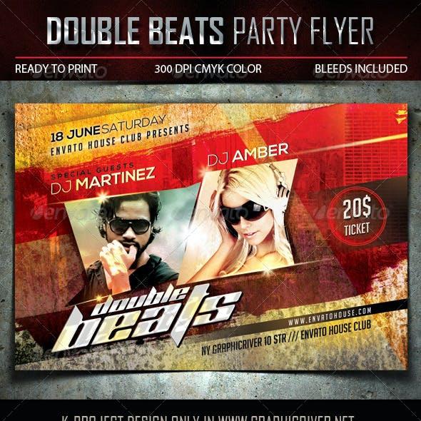 Double Beats Party Flyer