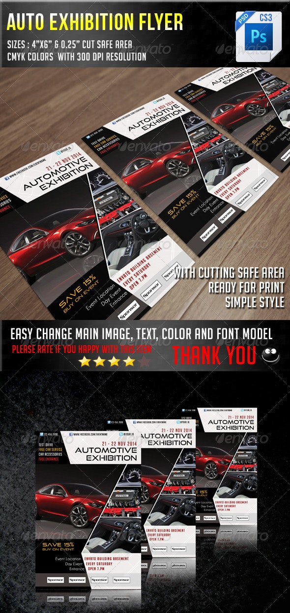 Auto Exhibition Flyer V6 - Concerts Events