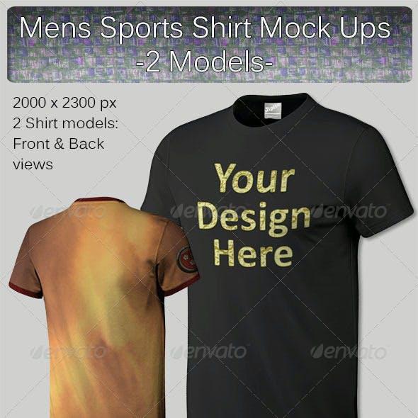 Mens Sports Shirt Mock Ups