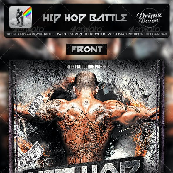 Hip Hop Battle Mixtape Template