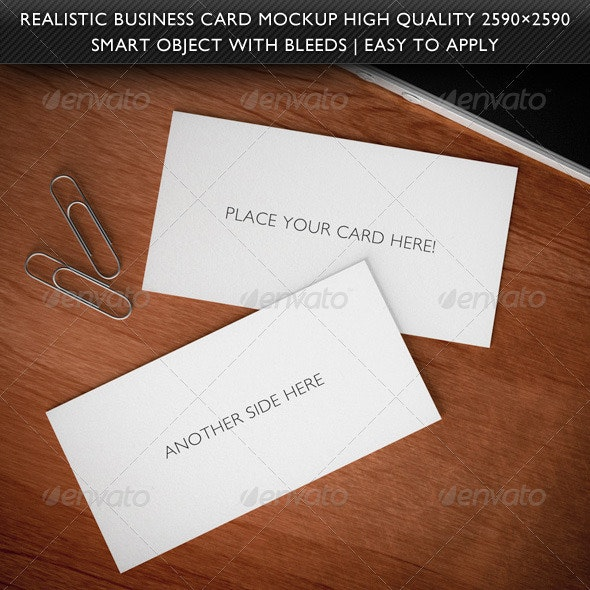 Realistic 3D Business Card Mockup - Business Cards Print