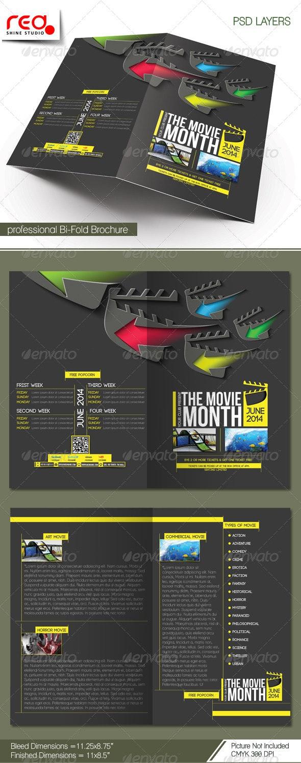 The Movie Month Bi-fold Brochure Template - Corporate Brochures