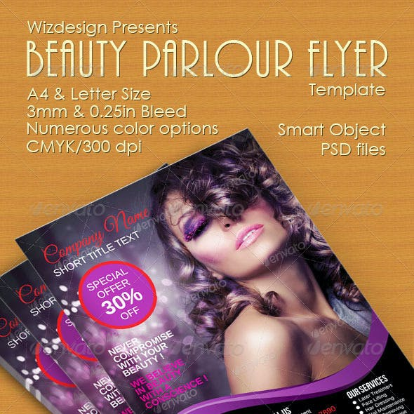 Beauty Parlour Flyer Template