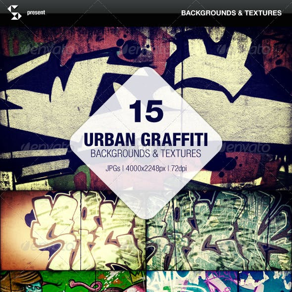 15 Urban Graffiti Backgrounds