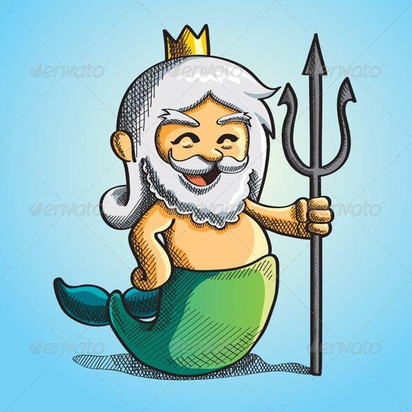 Happy Cute Poseidon