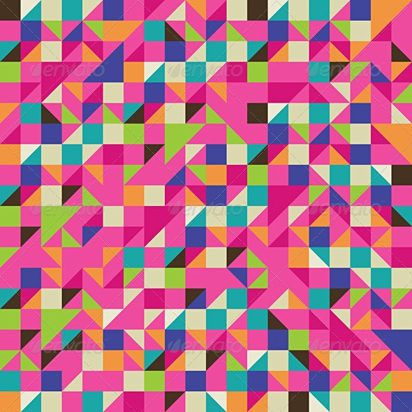 Colorful Illustration of Mosaic - Abstract Conceptual
