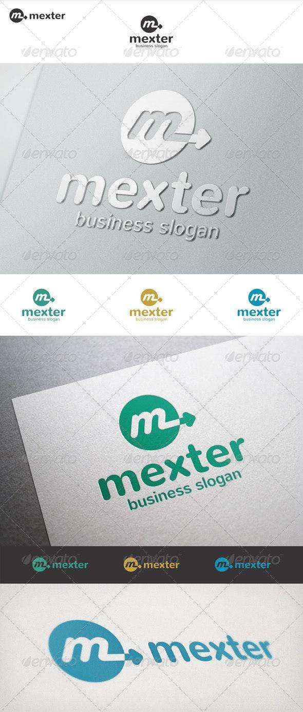 Mexter M Arrow Logo - Letters Logo Templates