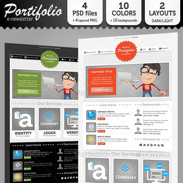 Portifolio E-Newsletter Template