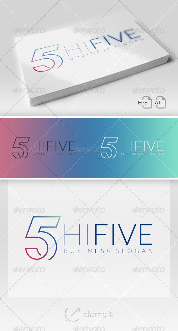 Hi Five Logo - Numbers Logo Templates