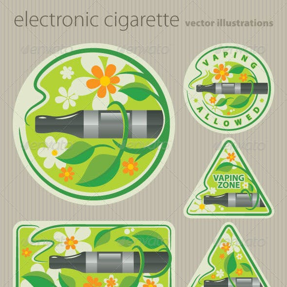 Electronic Cigarette Illustrations