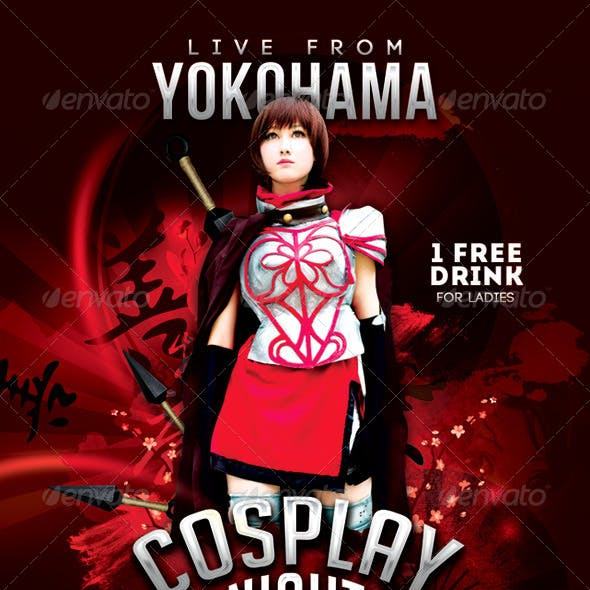 Cosplay Night Yokohama Flyer