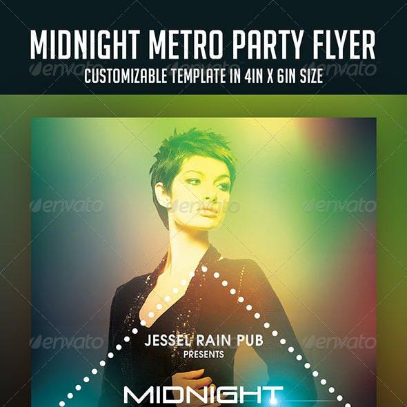 Midnight Metro Party Flyer