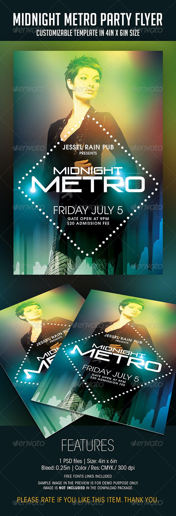 Midnight Metro Party Flyer - Clubs & Parties Events