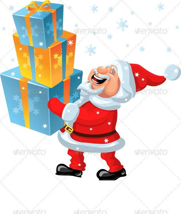 Vector a happy Santa Claus brings in the hands of  - Christmas Seasons/Holidays