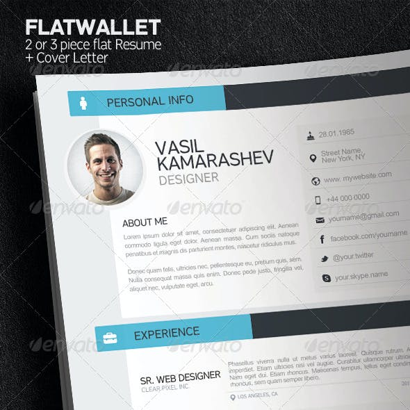 Resume Photoshop Graphics Designs Templates From Graphicriver