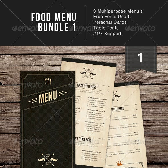 Food Menu Bundle 1