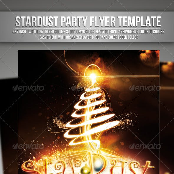 Stardust ( Christmas Eve Party ) Flyer Template