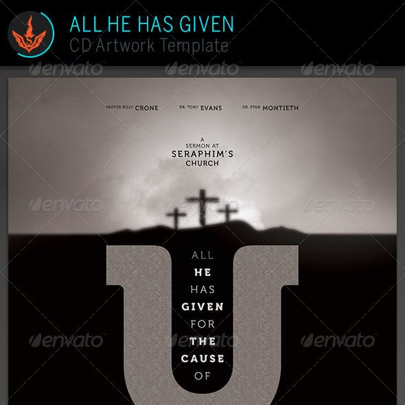 All He Has Given: CD Artwork Template