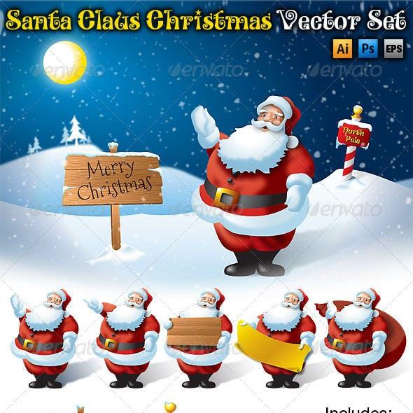 Santa Claus Christmas Vector Set