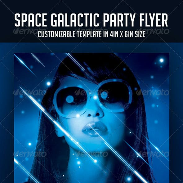 Space Galactic Party Flyer