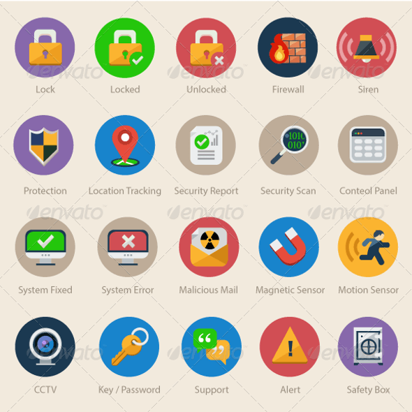 20 Security & Safety Icons