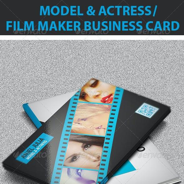 Model & Actress / Film Maker Business Card