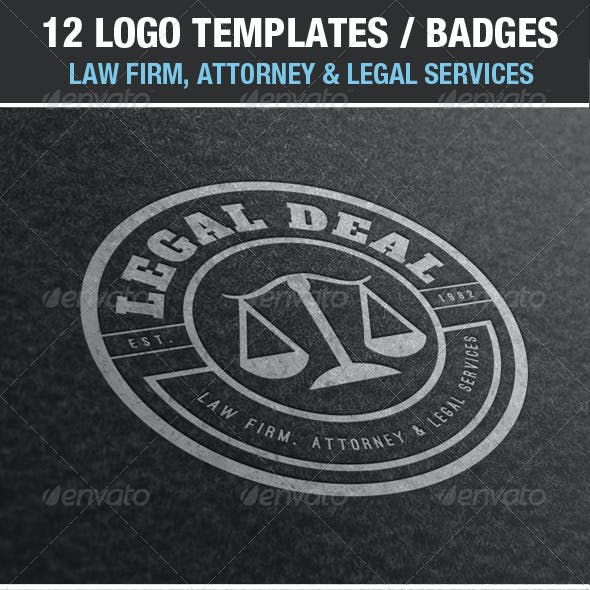 12 Logos & Badges Law Firm & Legal Services