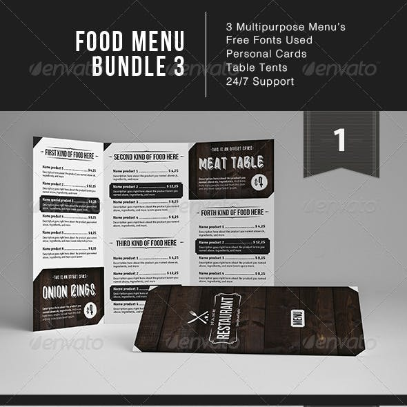 Food Menu Bundle 3