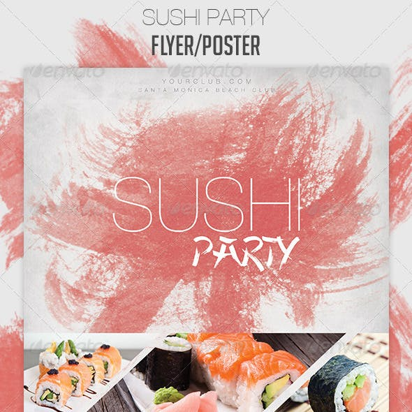 Sushi Party Flyer/Poster