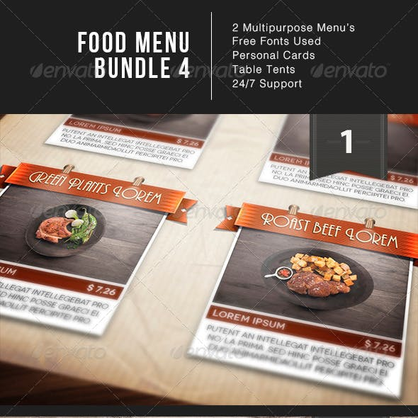 Food Menu Bundle 4