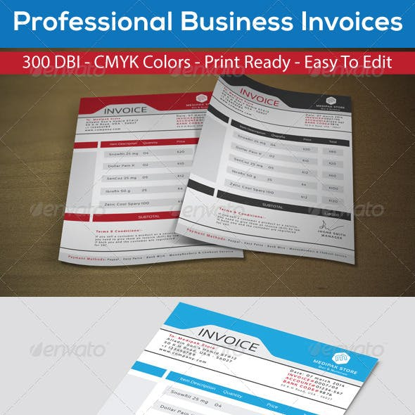 Corporate Business Invoices