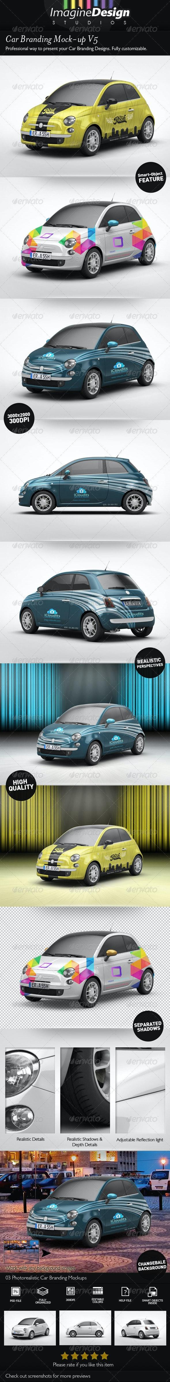 Car Branding Mock-Up V5 - Vehicle Wraps Print