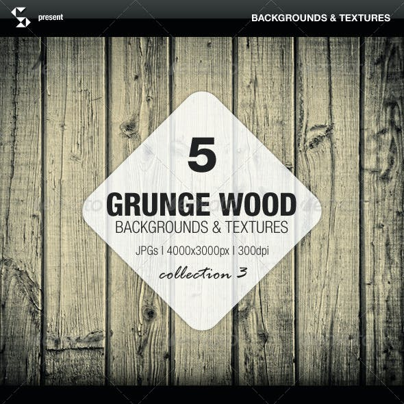 Grunge Wood Backgrounds - Collection 3