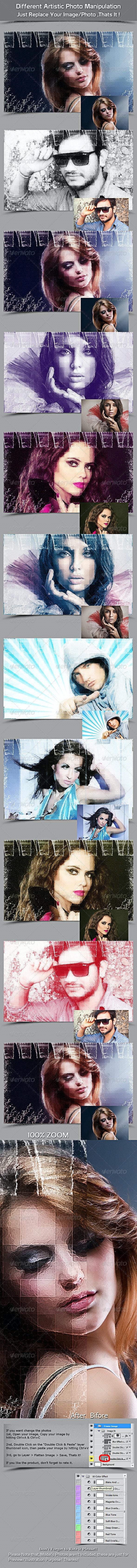 Different Artistic Photo Manipulation - Photo Templates Graphics