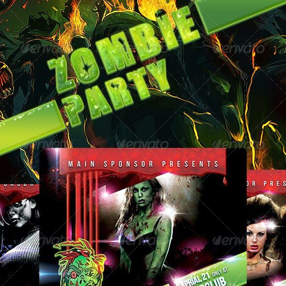Zombie party night