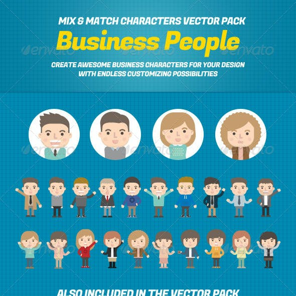 Business People Mix and Match Character Pack